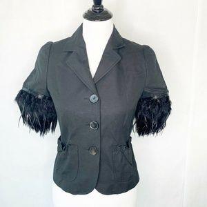 Laundry Industry Jacket Black Short Faux Fur 1